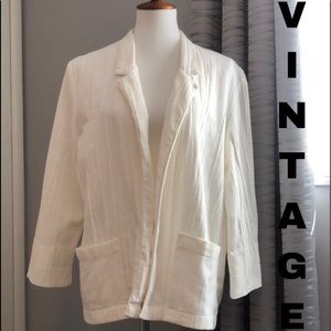 Vintage Cotton/Poly crinkly open blazer